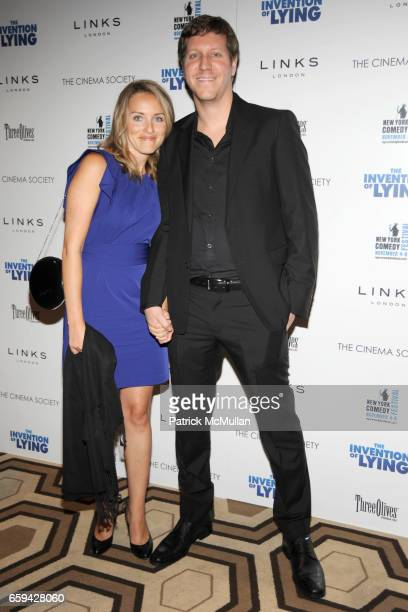 Lisa Robinson and Matthew Robinson attend THE CINEMA SOCIETY LINKS OF LONDON host a screening of 'THE INVENTION OF LYING' at Tribeca Grand Hotel on...