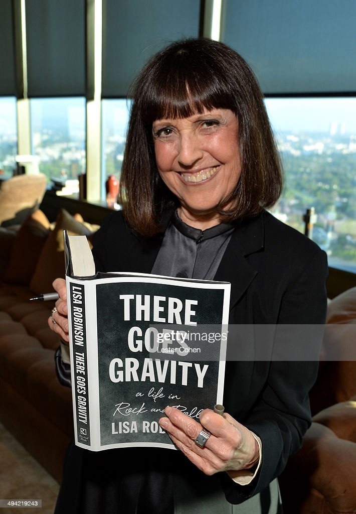 Lisa Robinson attends the Shelli And Irving Azoff & Ronald Perelman Party to celebrate the publication of Lisa Robinson's book 'There Goes Gravity: A Life in Rock And Roll' on May 28, 2014 in Los Angeles, California.