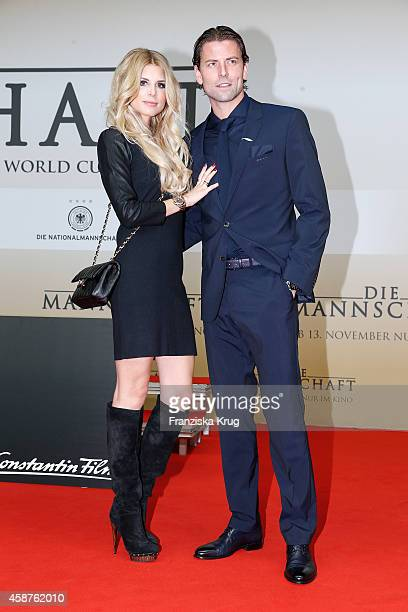 Lisa Rossenbach and Roman Weidenfeller attend the 'Die Mannschaft' Premiere at Sony Centre on November 10 2014 in Berlin Germany