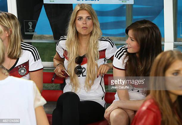 Lisa Rossenbach girlfriend of Roman Weidenfeller looks on after the 2014 FIFA World Cup Brazil Final match between Germany and Argentina at Estadio...
