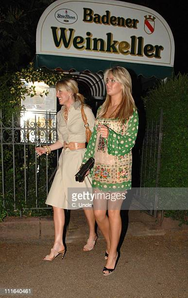 Lisa Roughead and Alex Curran during England Players Wives and Girlfriends Enjoy a Night Out at Restaurant and Local Bar June 29 2006 at Brenner Park...