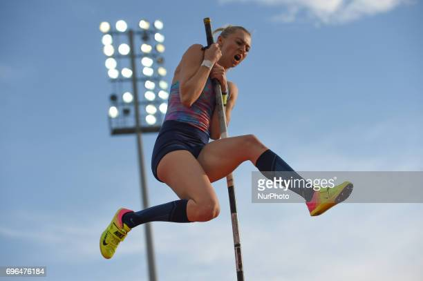 Lisa Ryzih compete during pole vault in the during the Oslo IAAF Diamond League 2017 at the Bislett Stadium on June 15 2017 in Oslo Norway