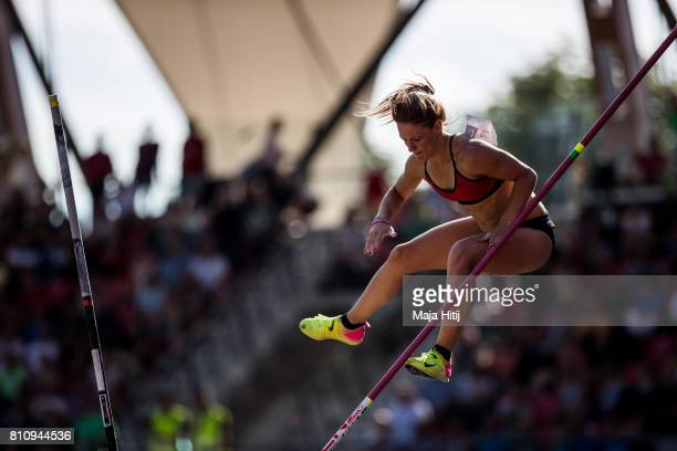 Lisa Ryzih competes during women's Pole Vault at day 1 of the German Championships in Athletics at Steigerwaldstadion on July 8 2017 in Erfurt Germany