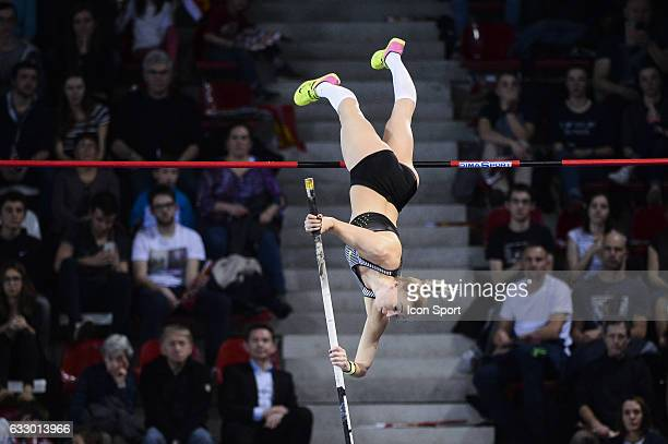 Lisa Ryzih of Germany during the Pole Vault Elite Tour at Kindarena Stadium on January 28 2017 in Rouen France