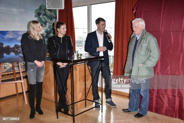 Lisa Ryzih Ruth Spelmeyer Dietmar Teige and Jim Rakete during the BERLIN2018 Magazin ReleaseParty on January 19 2018 in Berlin Germany