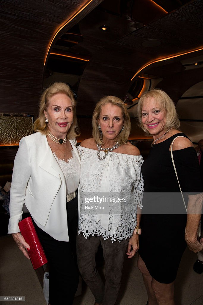 Lisa Salomon, Suzanne Kent-Cooke and Gail Farquhar attend AVENUE Celebrates Kara Ross and the Palm Beach A List at Meat Market Palm Beach on January 19, 2017 in Palm Beach, FL.