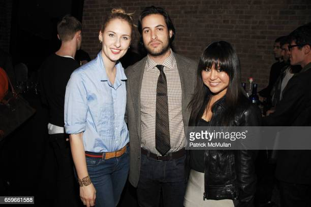 Lisa Salzer Ari Goldberg and Carol Han attend Private Evening at PHI with INTERVIEW to support ART PRODUCTION FUND at PHI on March 19 2009 in New...