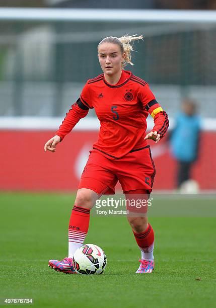 Lisa Schoppl of Germany during Women's U16s International Friendly match between England U16s Women and Germany U16s Women at St Georges Park on...