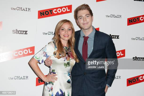 Lisa Schwartz and Shane Dawson arrives at the Not Cool Los Angeles Premiere at the Landmark Theatre on September 18 2014 in Los Angeles California