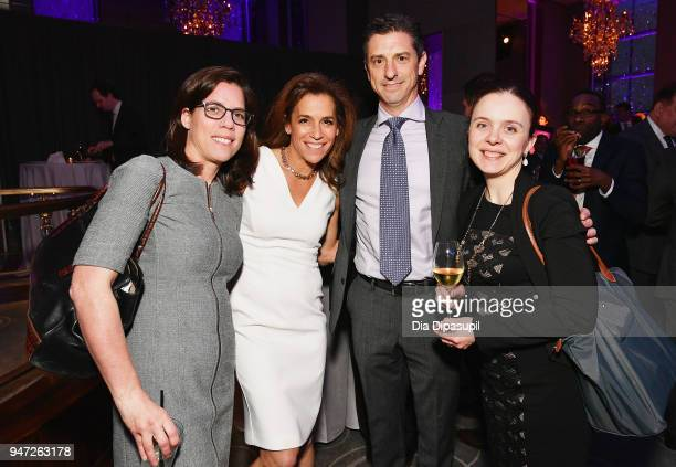 Lisa Schweitzer Sandy Oss David Oss and Jane Bedlair attend the Lincoln Center Alternative Investment Industry Gala on April 16 2018 at The Rainbow...