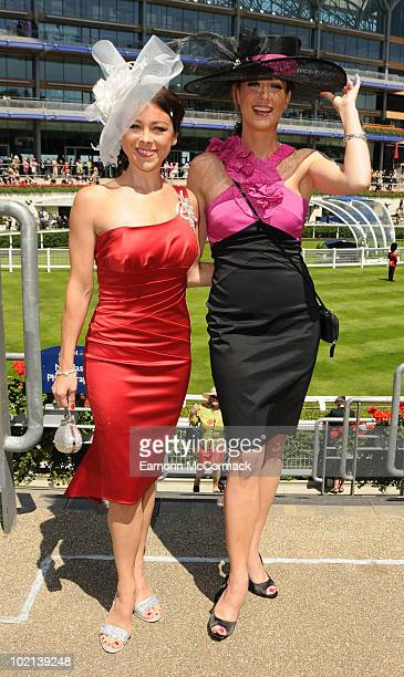 Lisa ScottLee and Faye Tozer attends Royal Ascot at Ascot Racecourse on June 16 2010 in Ascot England