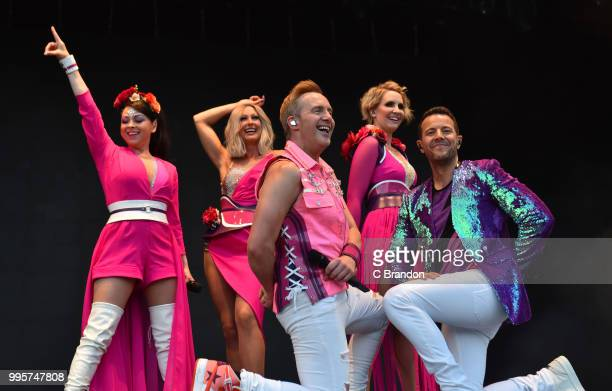 Lisa ScottLee Faye Tozer Ian 'H' Watkins Claire Richards and Lee LatchfordEvans of Steps headline on stage during Day 1 of Kew The Music at Kew...