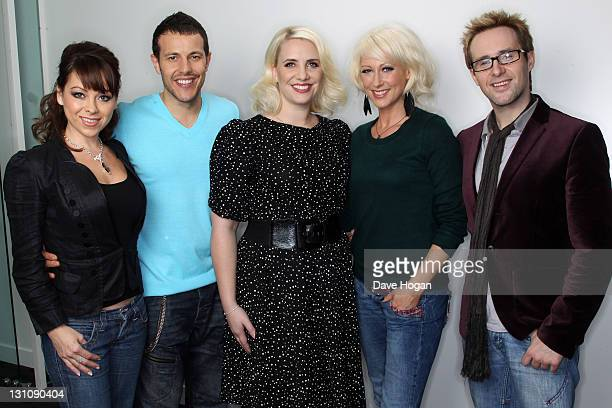 Lisa ScottLee Lee LatchfordEvans Claire Richards Faye Tozer and Ian Watkins of Steps pose for a portrait session on October 26 2011 in London United...
