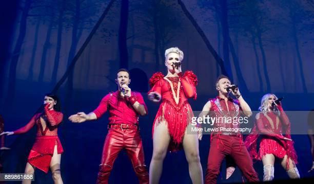 Lisa ScottLee Lee LatchfordEvans Claire Richards Ian 'H' Watkins and Faye Tozer of Steps perform on stage at Motorpoint Arena on December 10 2017 in...