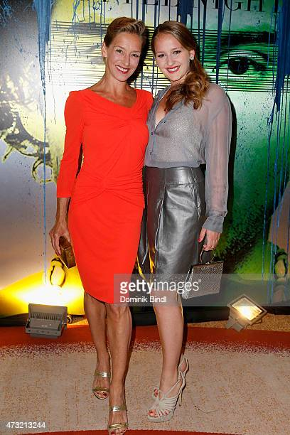 Lisa Seitz and daughter Luzie during the Genlemen Style Night at Hotel Vier Jahreszeiten on May 13 2015 in Munich Germany