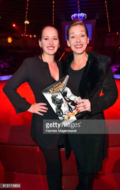 Lisa Seitz and her daughter Luzie during Circus Krone celebrates premiere of 'Hommage' at Circus Krone on February 1 2018 in Munich Germany