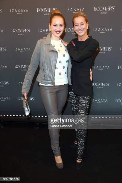 Lisa Seitz and her daughter Luzie Seitz during the grand opening of Roomers IZAKAYA on October 12 2017 in Munich Germany