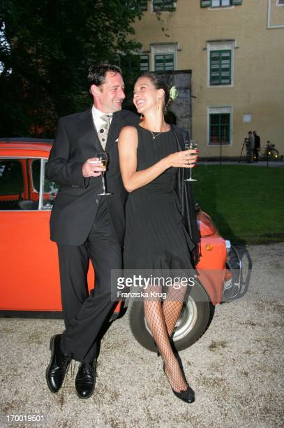 Lisa Seitz and husband Max Tidof at The Veuve Clicquot Feeling Vintage Soiree Party The Palace Jaune On Good Freiham In Munich 240505