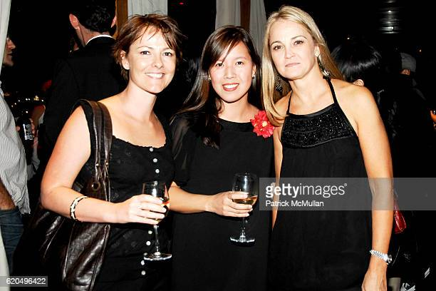 Lisa Shaahan Amy Feng and Lori Flynn attend EVERYDAY HEALTH 2nd Anniversary Party at Hudson Terrace on September 25 2008 in New York City