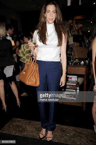 Lisa Sheldon attends PORTEROCOM Exclusive Vintage CHANEL Bag Auction Preview at Antony Todd on June 18 2008 in New York City