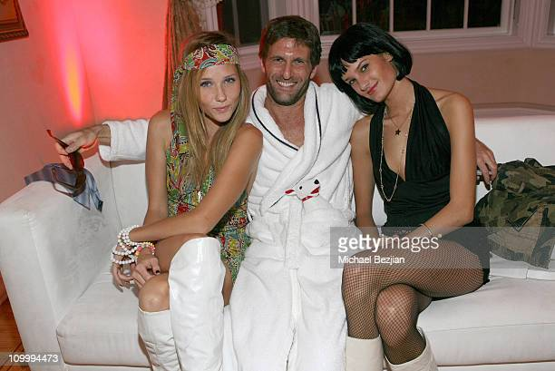 Lisa Sheldon Gary Gilbert and Alex Jackson during RipeTV Anniversary and Haunted Mansion at Private Residence in Los Angeles California United States