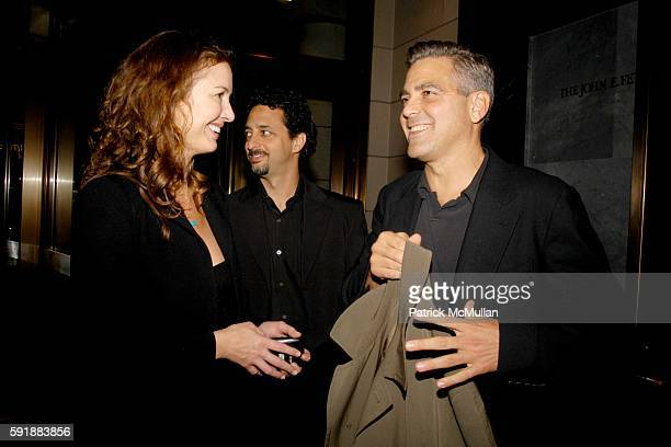 Lisa Shields and George Clooney attend Council on Foreign Relations New York Screening of Good Night and Good Luck at The Museum of Television and...