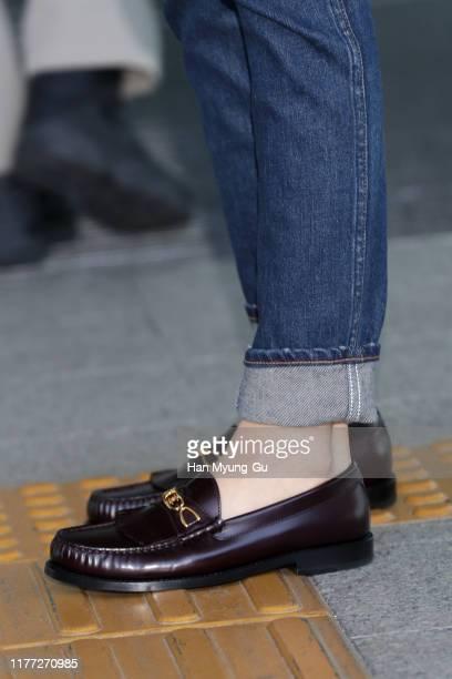 Lisa shoe detail aka Lalisa Manoban of South Korean girl group BLACKPINK is seen on departure at Incheon International Airport on September 26 2019...