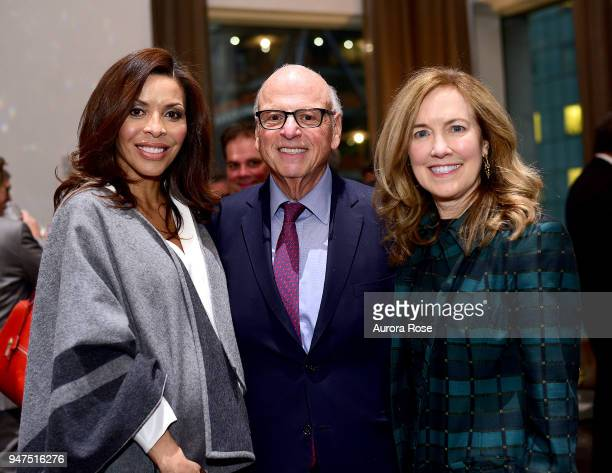 Lisa Simonsen Howard M Lorber and Betsy Donovan attend Launch Of New Entity Withers Global Advisors at 432 Park Avenue on April 3 2018 in New York...