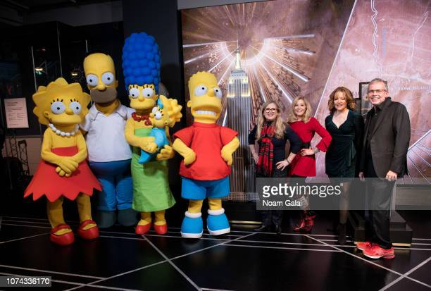 Lisa Simpson Homer Simpson Marge Simpson Maggie Simpson Bart Simpson Nancy Cartwright Pamela Hayden Stephanie Gillis and Mike Scully visit The Empire...