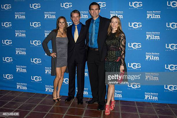 Lisa Singer Fabien Cousteau actor Capkin Van Alphen and Celine Cousteau arrive at the Attenborough Award honoring the Cousteau family and world...