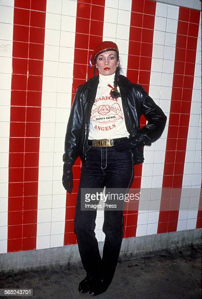 Lisa Sliwa VicePresident of Guardian Angels photographed in the Subway circa 1984 in New York City