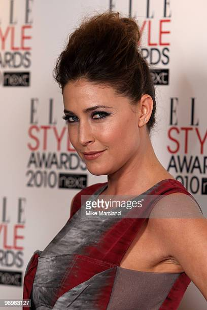 Lisa Snowden arrives for the ELLE Style Awards 2010 at the Grand Connaught Rooms on February 22 2010 in London England