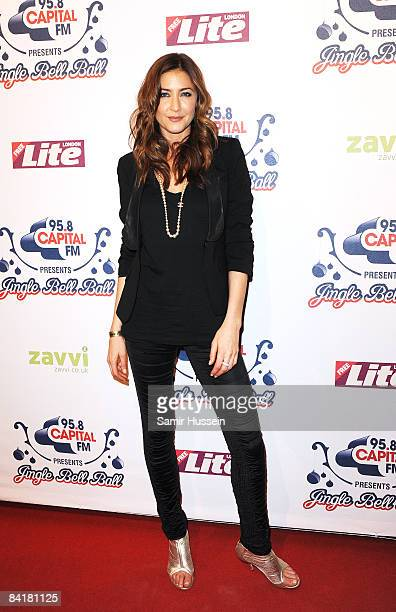 Lisa Snowden poses at The Jingle Bell Ball at the O2 Arena on December 10 2008 in London England