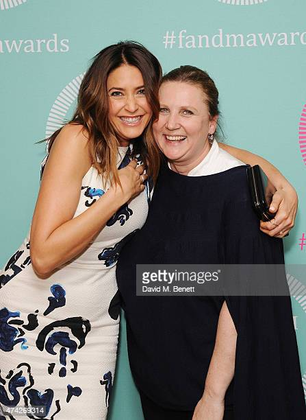 Lisa Snowdon and Angela Hartnett attend the third annual Fortnum Mason Food Drink Awards 2015 on May 21 2015 in London England The awards celebrate...