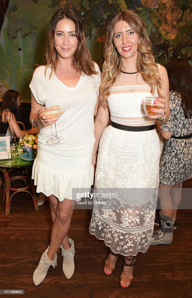 Lisa Snowdon (L) and Anna Grace-Davidson attend the launch of natural health, beauty and wellbeing website Grace Guru, hosted by Anna Grace-Davidson with the support of Jo Wood Organics, at Sketch on June 17, 2015 in London, England.