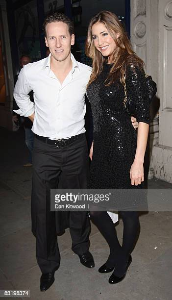 Lisa Snowdon and Brendon Cole arrive at the Eric Bompard store launch on October 9 2008 in London England