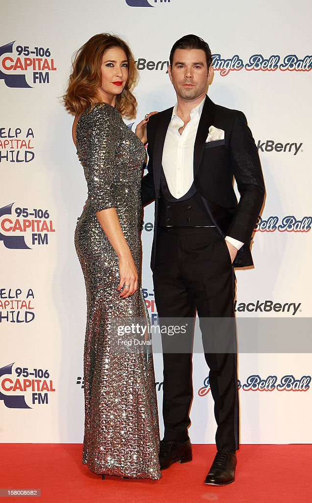 Lisa Snowdon and Dave Berry attend the Capital FM Jingle Bell Ball at 02 Arena on December 8, 2012 in London, England.