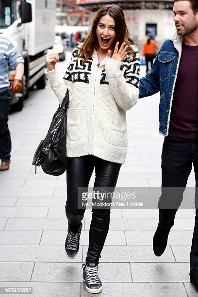Lisa Snowdon and Dave Berry seen leaving the Capital FM Radio Studios on February 20 2015 in London England