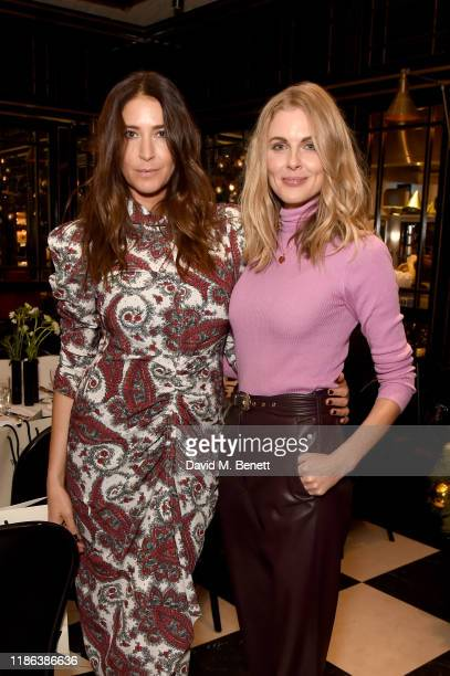 Lisa Snowdon and Donna Air attend the launch of the Bicester Village Christmas Experience on November 08 2019 in Bicester England