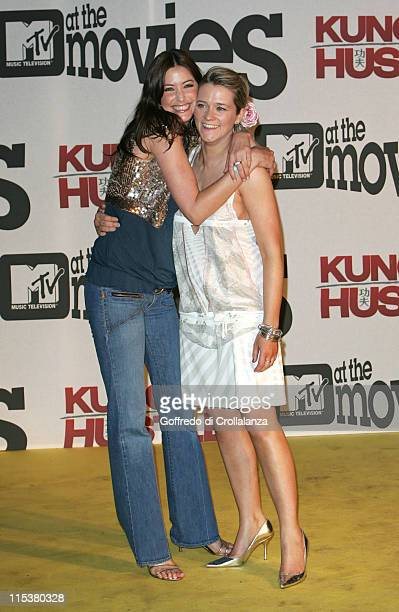 Lisa Snowdon and Edith Bowman during 2005 Cannes Film Festival MTV's 'Kung Fu Hustle' Cannes Party in Cannes France