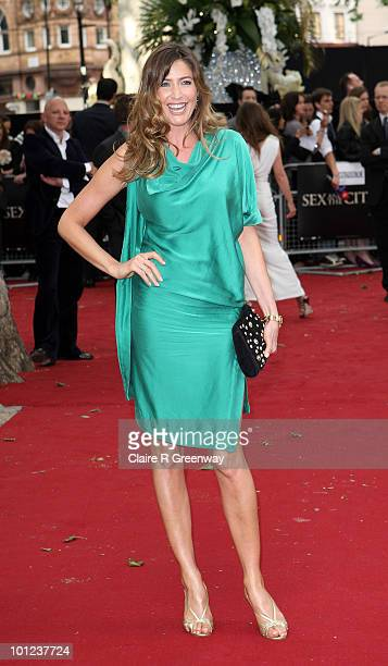 Lisa Snowdon arrives at the UK premiere of Sex And The City 2 at Odeon Leicester Square on May 27, 2010 in London, England.