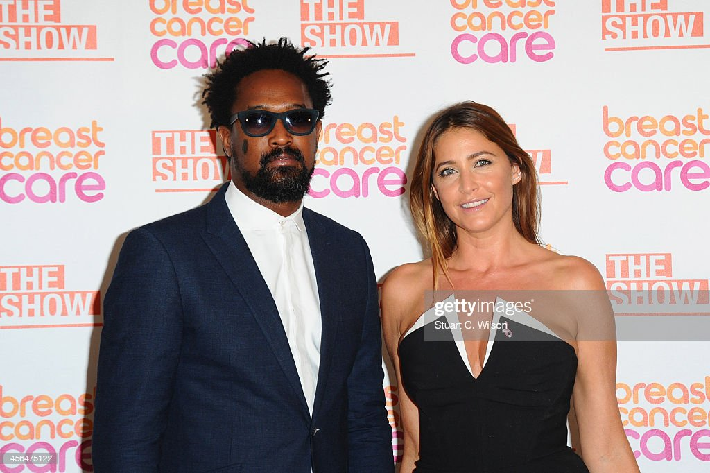 Lisa Snowdon (R) arrives for the Breast Cancer Care's London Fashion Show 2014 at The Grosvenor House Hotel on October 1, 2014 in London, England.