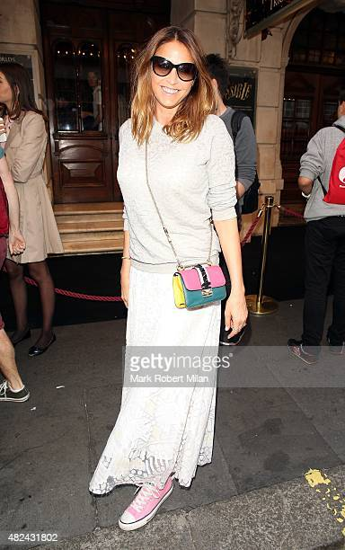 Lisa Snowdon attending the Impossible press night at the Noel Coward Theatre on July 30 2015 in London England