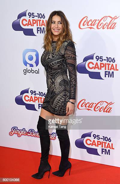 Lisa Snowdon attends day one of the Capital FM Jingle Bell Ball at The O2 Arena on December 5 2015 in London England