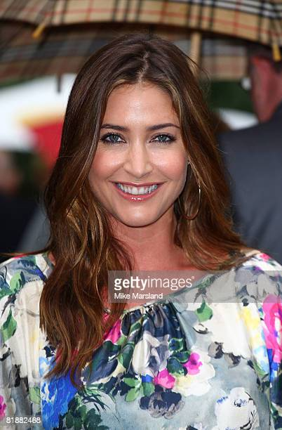 Lisa Snowdon attends Sir David Frost's Summer Party at Sir David Frost's private residence on July 9 2008 in London England