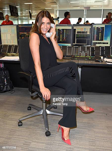 Lisa Snowdon attends the annual BGC Global Charity Day at BGC Partners on September 11 2015 in London England