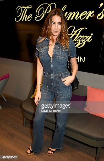 Lisa Snowdon attends the Azzi Glasser Fragrance Launch at Harvey Nichols on October 1 2015 in London United Kingdom