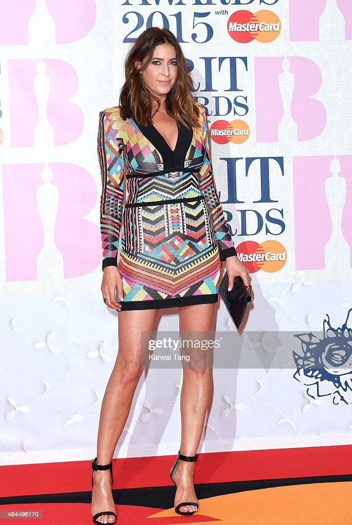Lisa Snowdon attends the BRIT Awards 2015 at The O2 Arena on February 25, 2015 in London, England.