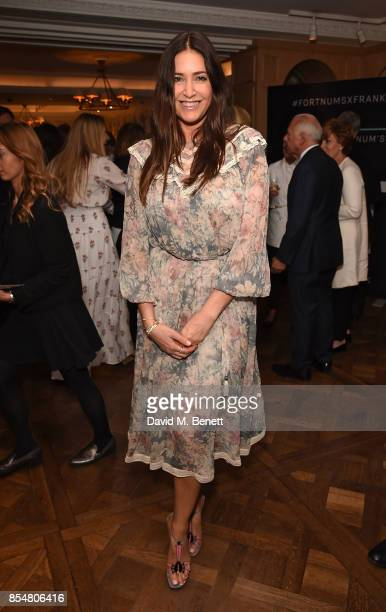 Lisa Snowdon attends the Fortnum's x Frank private viewing at Fortnum Mason on September 27 2017 in London England