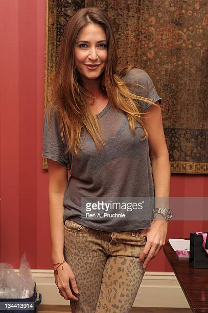 Lisa Snowdon attends the launch of the Assya Love Bracelet in aid of Breast Cancer Care on December 1 2011 in London England